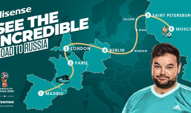 HISENSE recorrerá Europa por carretera junto a los aficionados del Mundial de Fútbol
