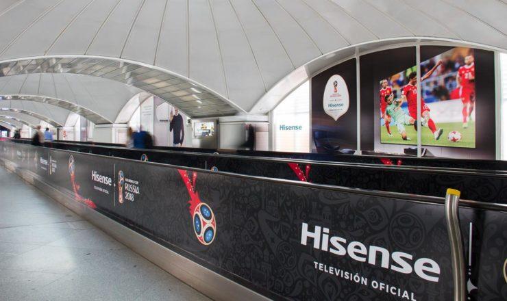 Puerta de Atocha se viste de  HISENSE con motivo de  La Copa Mundial de La FIFA 2018™