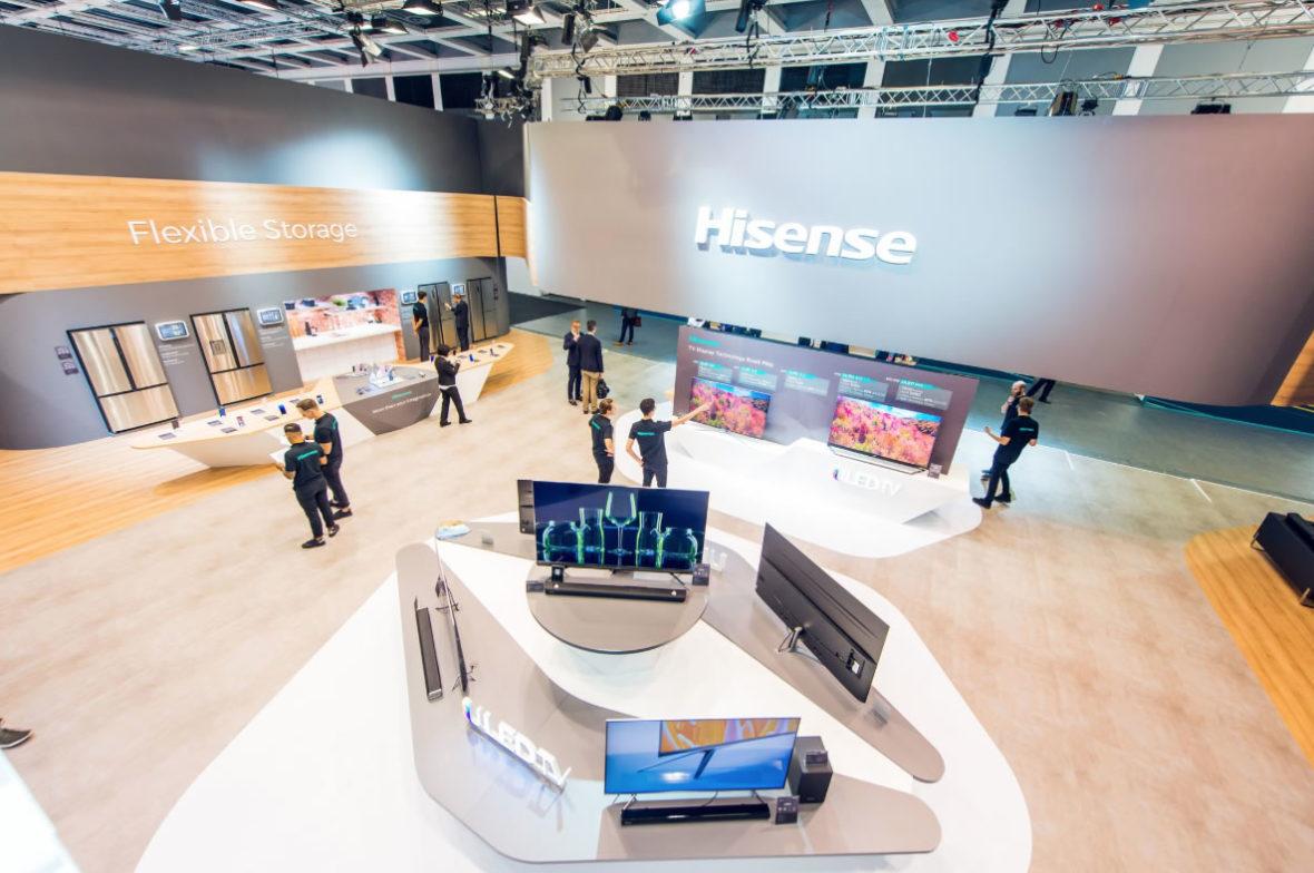 Hisense presenta sus grandes novedades  de Gama Blanca y Marrón durante la IFA 2018