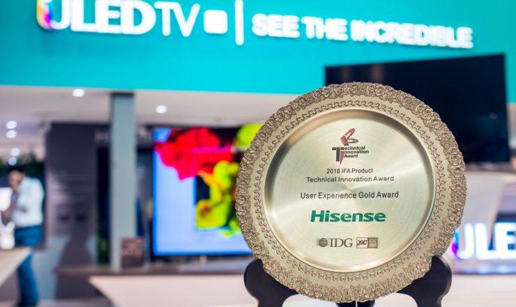 La Láser TV L5 de Hisense consigue   el Premio a la Mejor Experiencia  de Usuario en IFA 2018 de Berlín