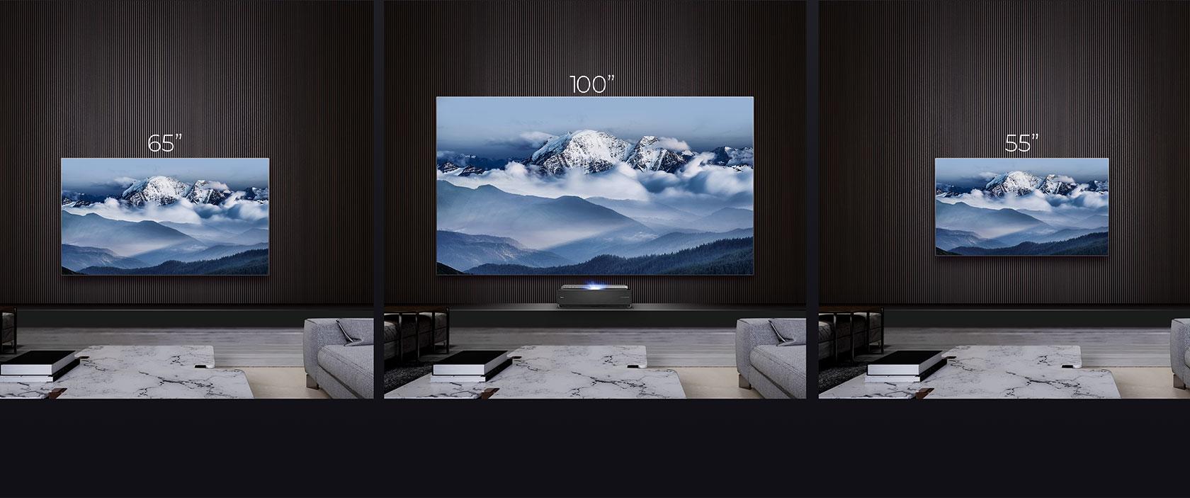 Laser TV H100LDA 100″