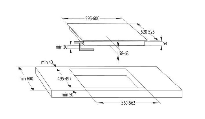 Inducción Placa de inducción I6341C