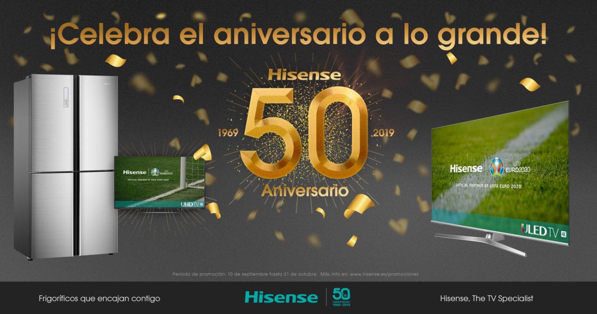 Hisense celebra 50 años de historia con promociones exclusivas en varios de sus productos estrella con lo último en tecnología