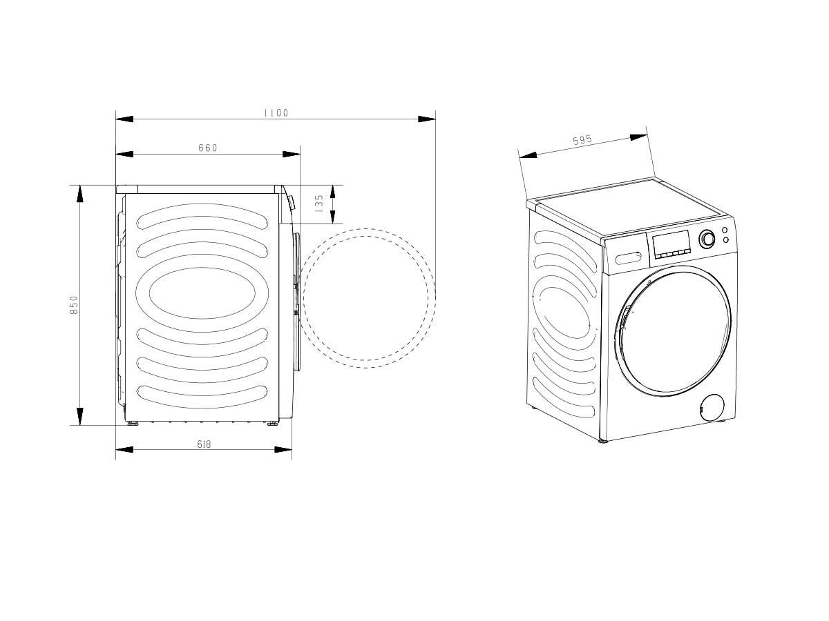 Lavadoras de carga fontal Lavadora WFEH1014VJ 10KG A+++ (-20%)