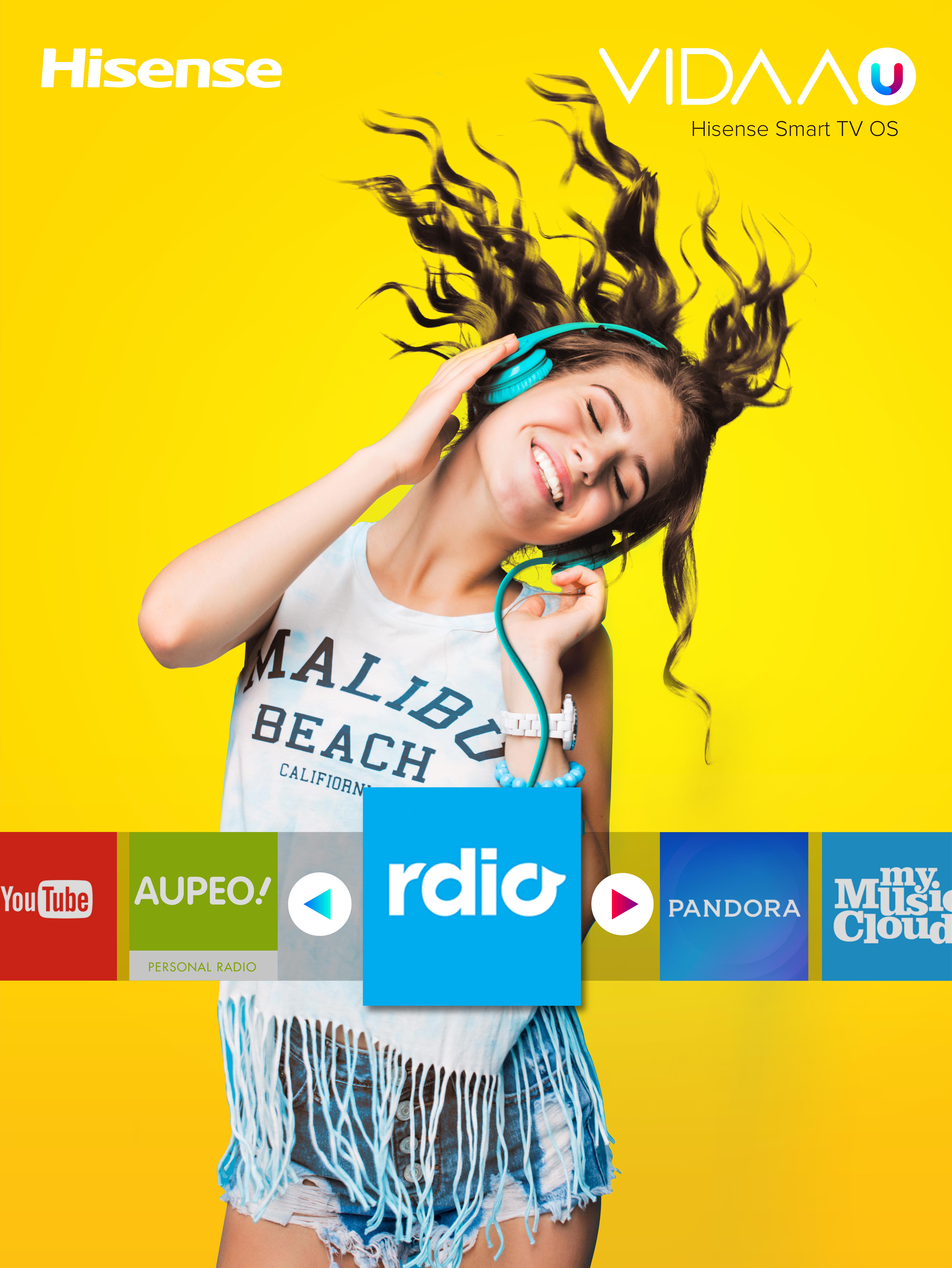 hisense smart tv music