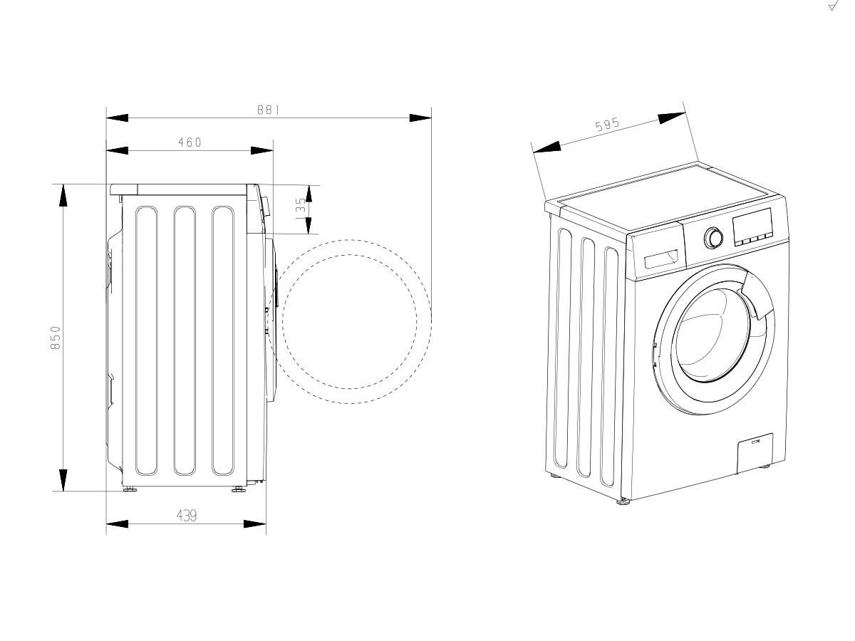 Lavadoras de carga fontal Lavadora WFHV7012 A+++