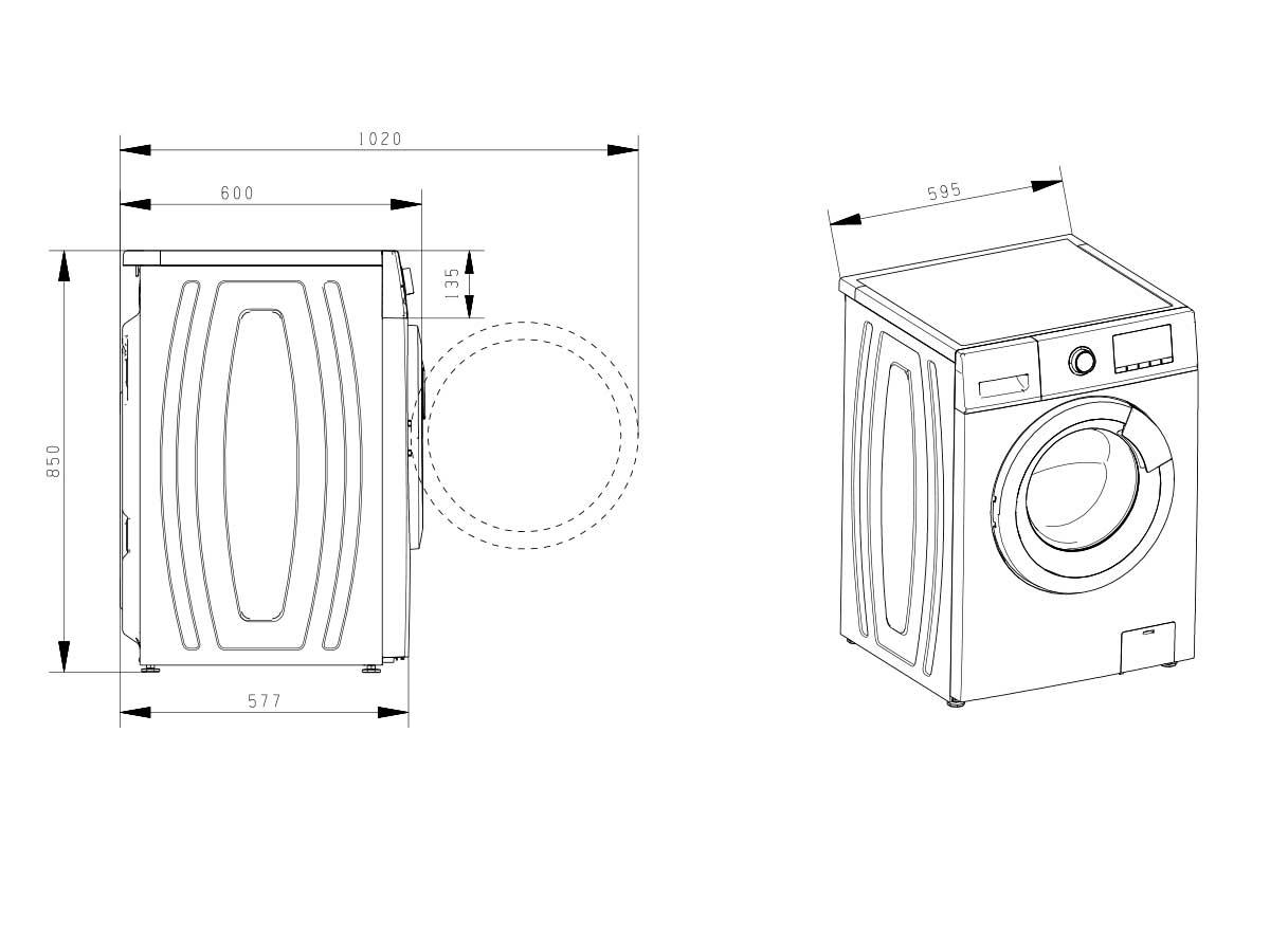 Lavadoras de carga fontal Lavadora WFHV8012 A+++