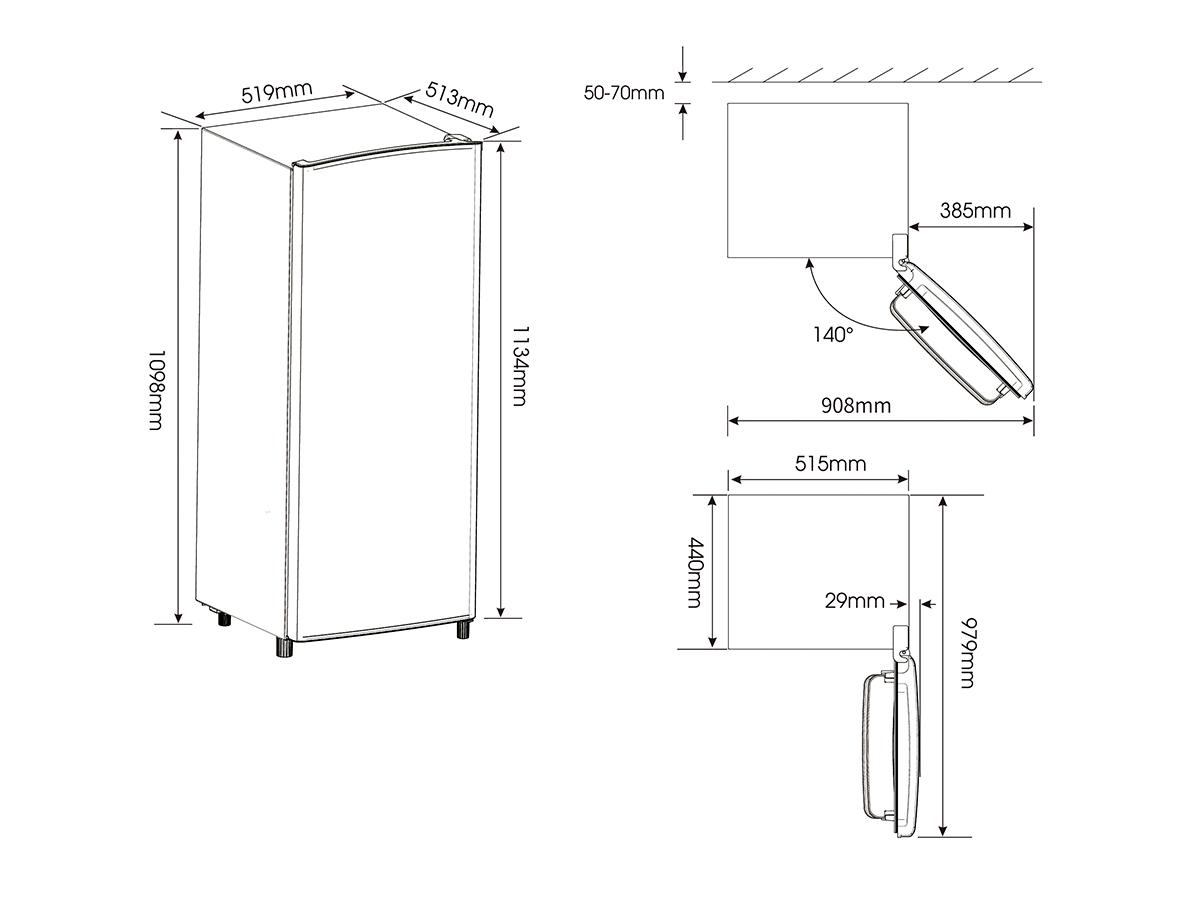 Una puerta Frigorífico Una puerta RR220D4AR2  A++