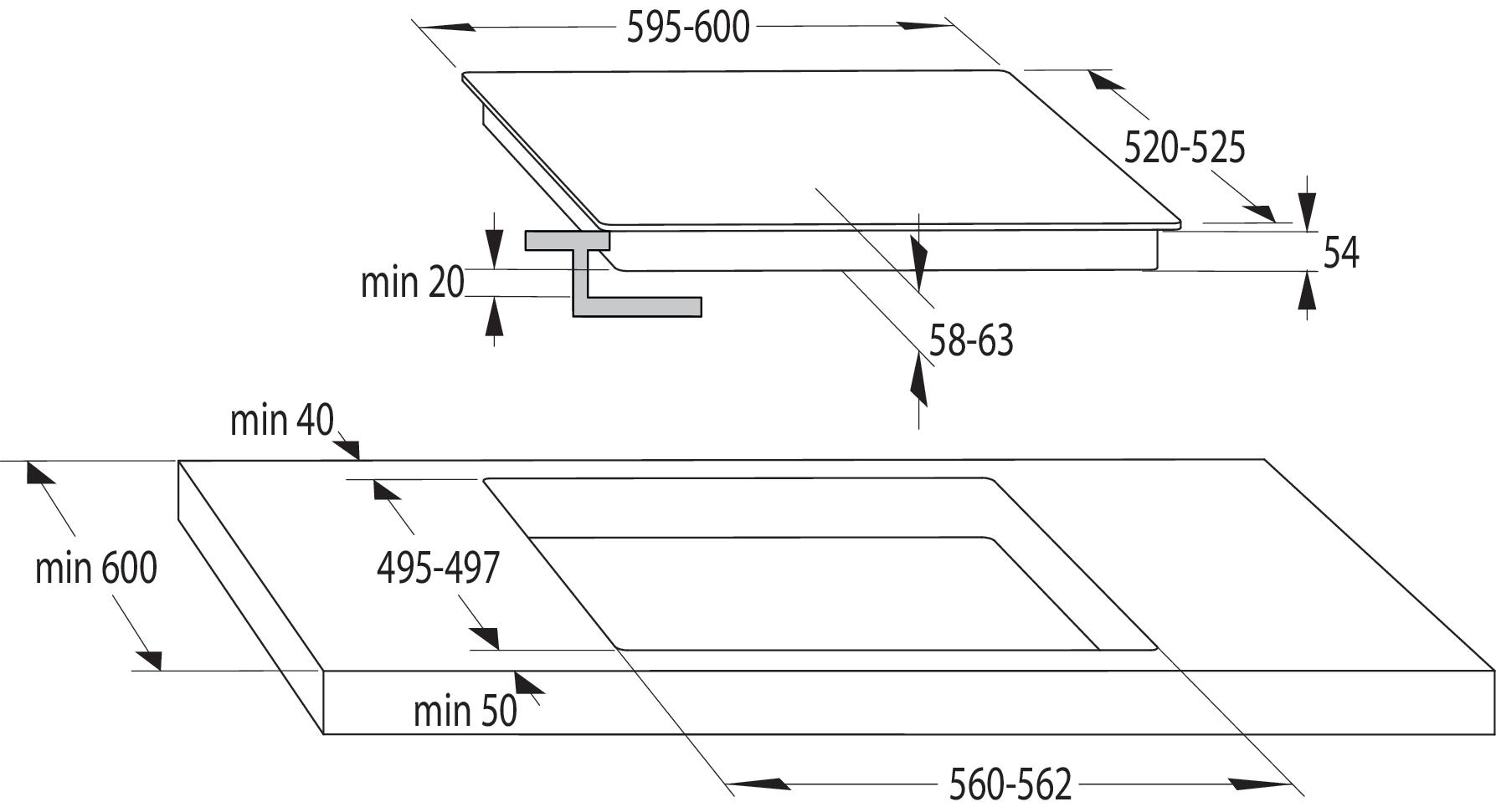 Inducción Placa de inducción I6341CB