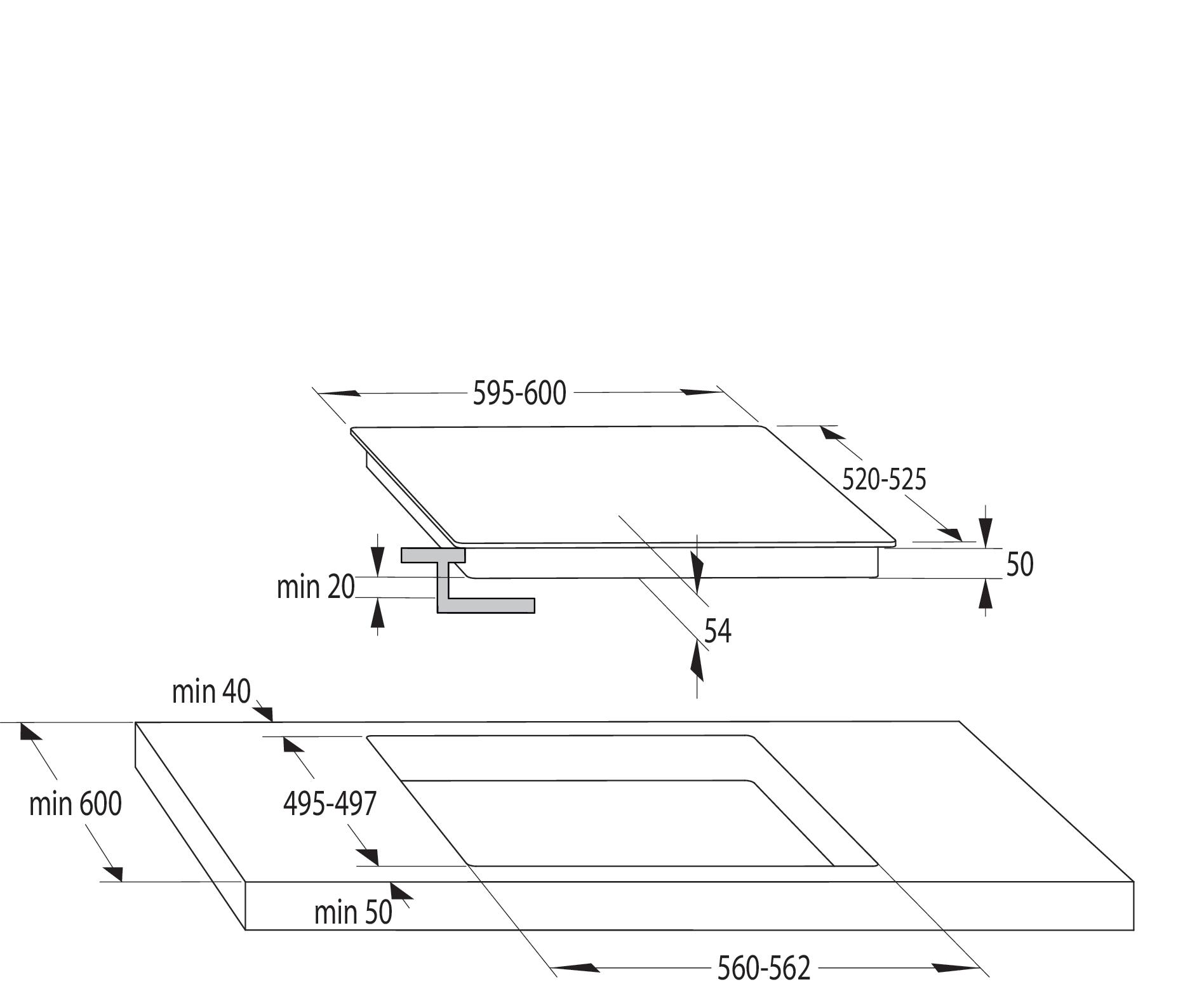 Inducción Placa de inducción I6456CB