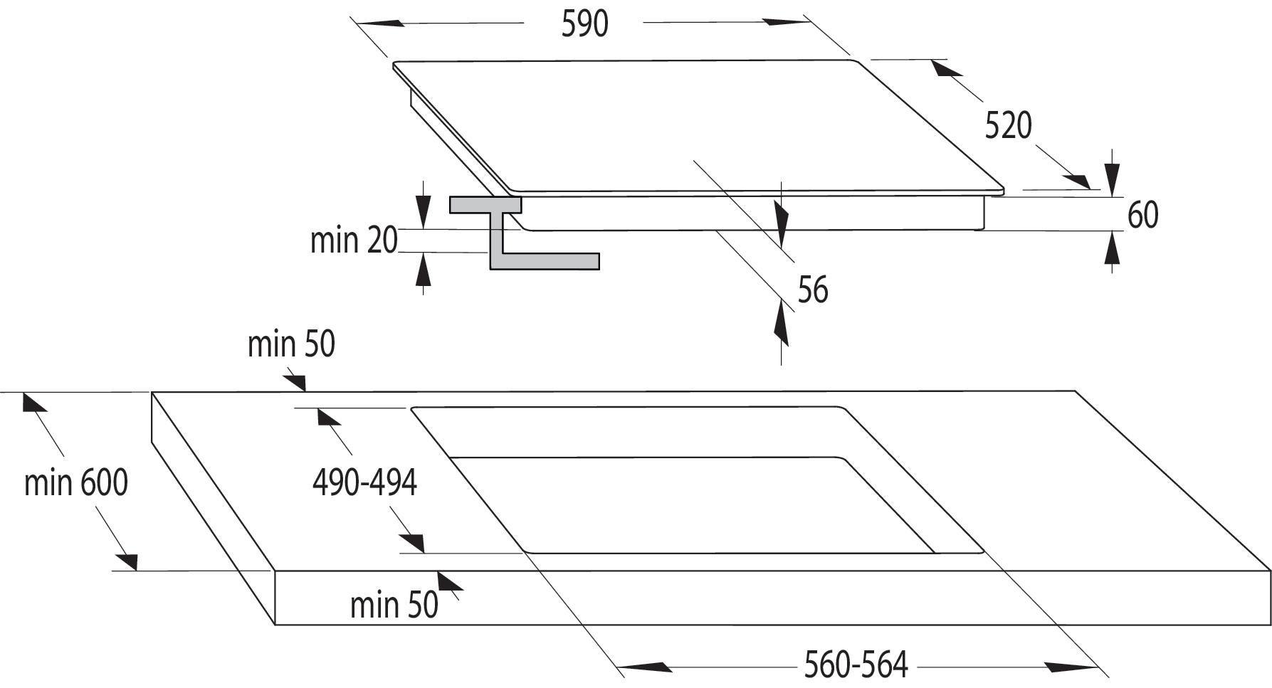 Vitrocerámica Placa de vitrocerámica E6322C