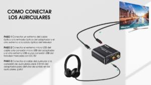 Como conectar auriculares a TV